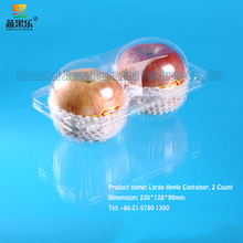 Fruit packing boxes disposable plastic 2 packs of apple container