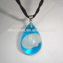 Oval collar de ámbar de venta al por mayor, lisa de un solo collar con piedra