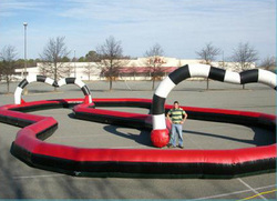 Hot selling fun inflatable race track / giant inflatable zorb