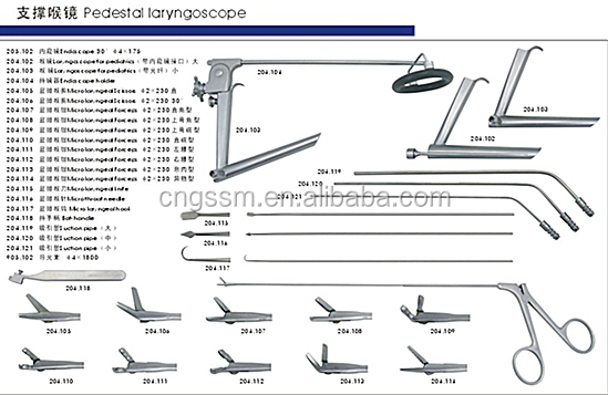 Surgicals Instruments Lists Throat Surgical Instruments