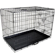 "36"" Pet Dog Cage Puppy Cat Collapsible Metal Crate Kennel Portable House Large"