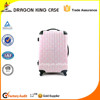 high quality trolley luggage, fashionable suitcase, travel bag of crystal purple,women bag