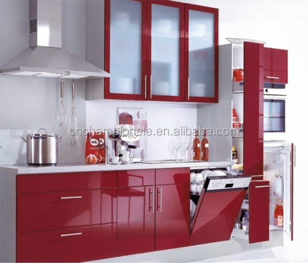 Red Lacquer High Gloss Kitchen Cabinet For Sale Buy High Gloss