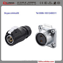 Cnlinko LP-20 Series 2-Pin IP67 Housing 12V DC Connector Jack to Multipole Connector