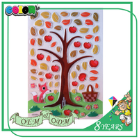 Hot Sell Best Material Quality Guaranteed Self Adhesive Colorful Cute Puffy Sticker Skin For Iphone5