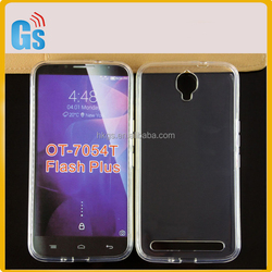 Clear Silicone Back Cover Phone Case For Alcatel One Touch Flash Plus OT 7054T 7054