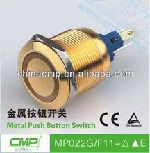 factory wholesale price Export 22mm illuminated metal push button switch with CE and TUV certifications