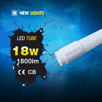 ce rohs quality isolated led tube www xxx com led t8,young tube 18w t8 led red tube