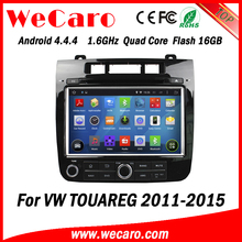 Wecaro Android 4.4.4 WC-VT8009 wifi 3g touch screen multimedia gps for vw touareg android car dvd 2011 2012 2013 2014 2015