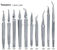 Orthodontic Long Buccal Tube Tweezers with slim head and slot aligner