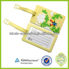 Custom made Delicate colorful printed photo luggage tags