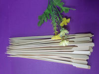 Natural color flat shape food grade bamboo knotted skewers