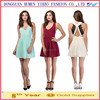New fashion ladies Sexy Mini Dress V-Neck Lace Back Ball Gown Formal Party Cocktail Dress