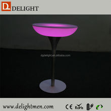 Recharge battery power illuminated bar table/ led tv table/ led hotel ice cooler table