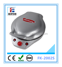 Double side marble coating electric pizza maker & flat pan