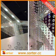 Clear Crystal Beads Strand Curtain for Wedding Tree Decoration