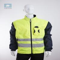 EN471 high visibility waterproof winter fluorescent jacket with coat