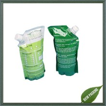 manufacture standing lotion packaging spout pouch with cap