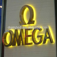 Stainless steel 3D letter,Brush decorative metal letters