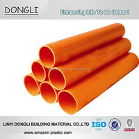 20-800mm pvc material orange pvc pipe