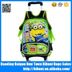 Hot selling cute durable cheap kids luggage for travel minion luggage tag