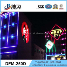 20000 lumens projector of large images on the outdoor building wall