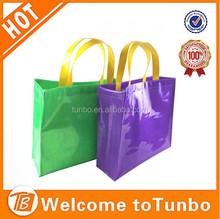 Wholesale LOGO Customized shopping bag high quality luxury glittering PVC fabric garment bag