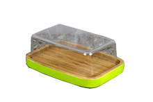 kitchen bamboo cheese storage boxes with lids