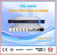 (6tuner +2asi)/8asi inputs multiplexing and scrambling device, (4 simulcrypt CAS ) Scrambler multiplexer 2asi/ip udp out