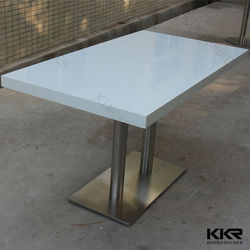 home furniture solid surface white dining table