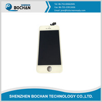 China Wholesale front assembly lcd display + touch screen digitizer for iPhone 5 5G Black White