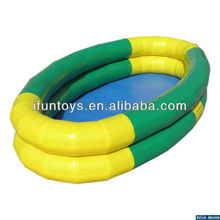 Double layer water pool inflatable swimming pool