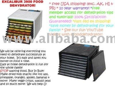 Excalibur 3900 desidratador de alimentos com 9 bandejas e 10 ano de garantia