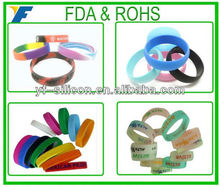 Latest Unique Design Silicone Wristband Printing Top Brand