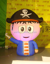 Lively waha customized ground inflatable cartoon with led