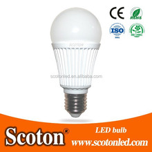E27 led bulb 7w die-costing aluminum heat disspation 5years warranty