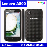 Original Lenovo A800 MTK6577 Dual Core Android 4.0 4.5inch Multi-touch Screen 4GB ROM 5.0MP GPS Dual Sim 3G Cell phone