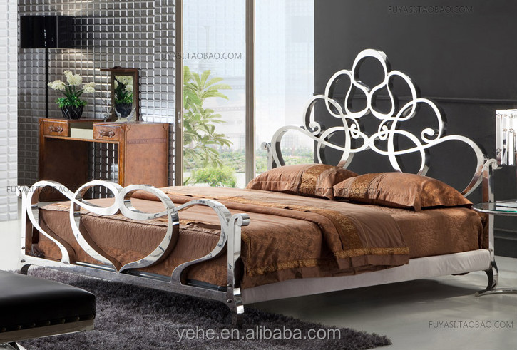 Luxury king size bedroom furniture sets - Stainless Steel Venus Bed Super King Size Bed Royal