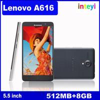 HottestOriginal Lenovo A616 4 G FDD LTE Mobile Phone 5.5 polegada IPS MTK6732M Quad Core 512 MB RAM 8 GB ROM dupla camera de 5MP