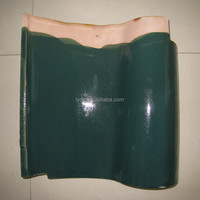 clay material glazed spanish type roofing tiles
