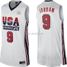 2015 OME latest design basketball uniform & LOW MOQ basketball uniform & full sublimation Basketball Jersey/Uniform
