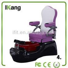 Belleza púrpura niños pedicura silla, jacuzzi spa pedicure silla