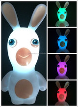 CE making bunny 3D carton table top stand led night light