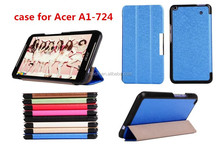 Hot Sale Voltage Type silk Leather Stand Case For Acer Iconia Talk S A1-724