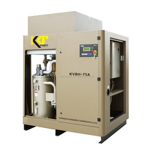 Variable speed belt driven rotary screw air compressor