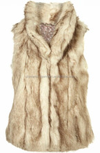 China supplier Sleeveless winter Faux Fur vest