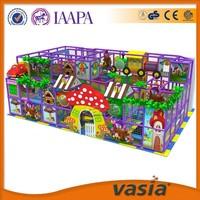 Plastic Mushroom Indoor Playhounse, Playhouse with Slide, Indoor Soft Playground Equipment