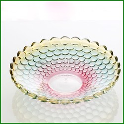 Wholesale Crystal High Quality Glass Fruit Plates & Crystal Salad Plate for Home Wedding Decor