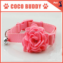 Pink Color Fashional Dog Puppy Cat Rose Flower Bow Tie Necktie Cute Pet Collars