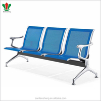 SLS public waiting room stainless steel seating bench